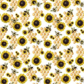 Sunflower Honeybee