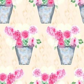 19-07ac Peony Floral Cream
