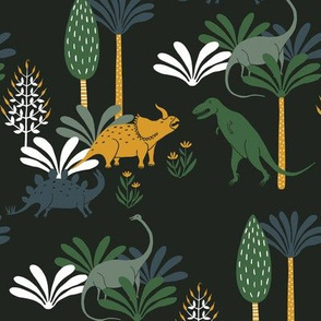 Dinosaurs in forest big