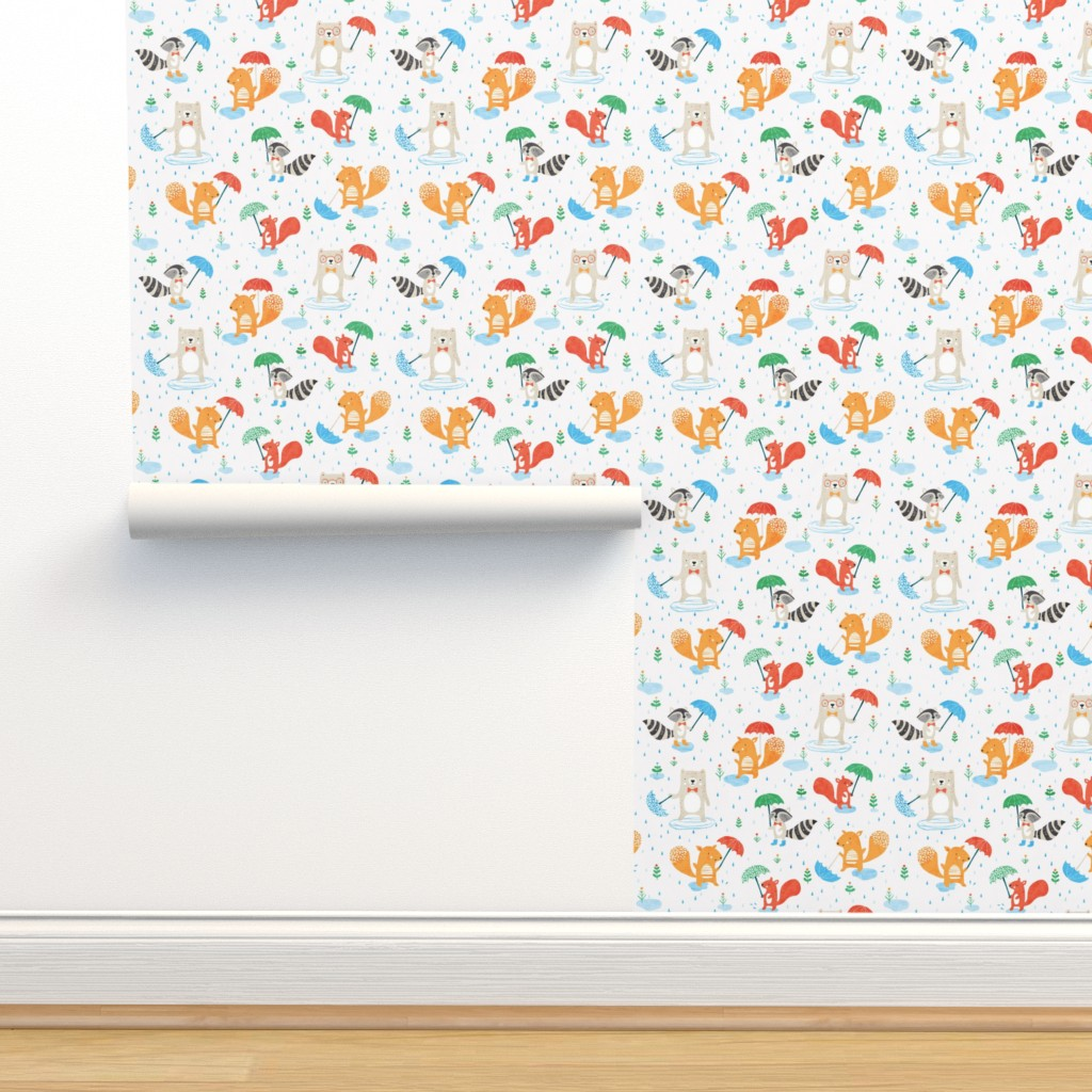 Isobar Durable Wallpaper featuring Rainy day fun by tatiabaurre