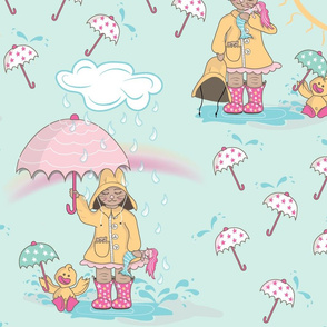 April Showers Bring Mermaid Flowers, large scale