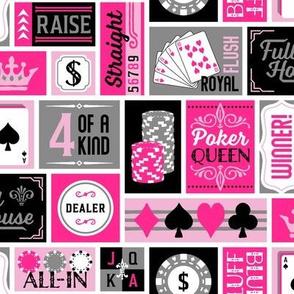 Poker Queen Patchwork in Pink