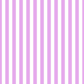 Blush Pink and White ¾ inch Deck Chair Vertical Stripes