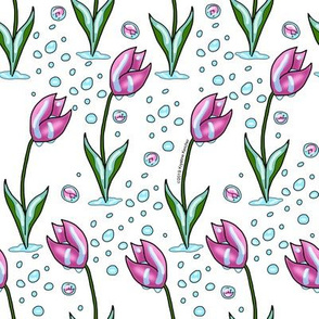 Pink Tulips and April Showers