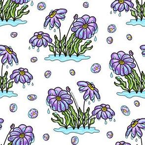April Showers Purple Anemones