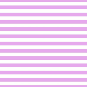 Blush Pink and White ¾ inch Deck Chair Horizontal Stripes