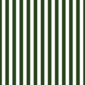 Forest Green and White ¾ inch Deck Chair Vertical Stripes