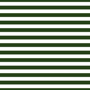 Forest Green and White ¾ inch Deck Chair Horizontal Stripes