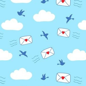 Love Letters in blue