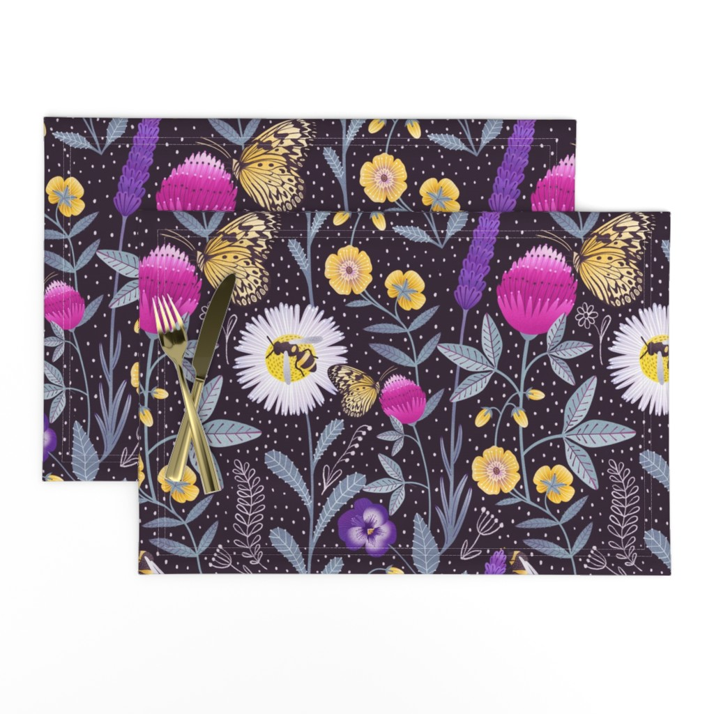 Lamona Cloth Placemats featuring Pollinators by julia_gosteva