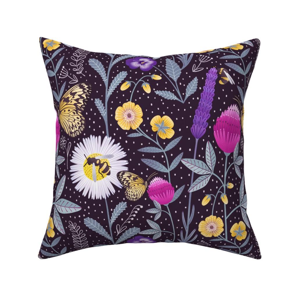 Catalan Throw Pillow featuring Pollinators by julia_gosteva