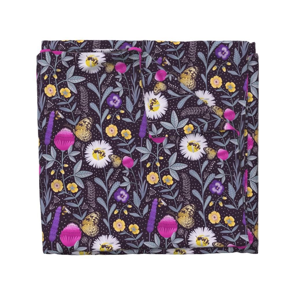 Wyandotte Duvet Cover featuring Pollinators by julia_gosteva