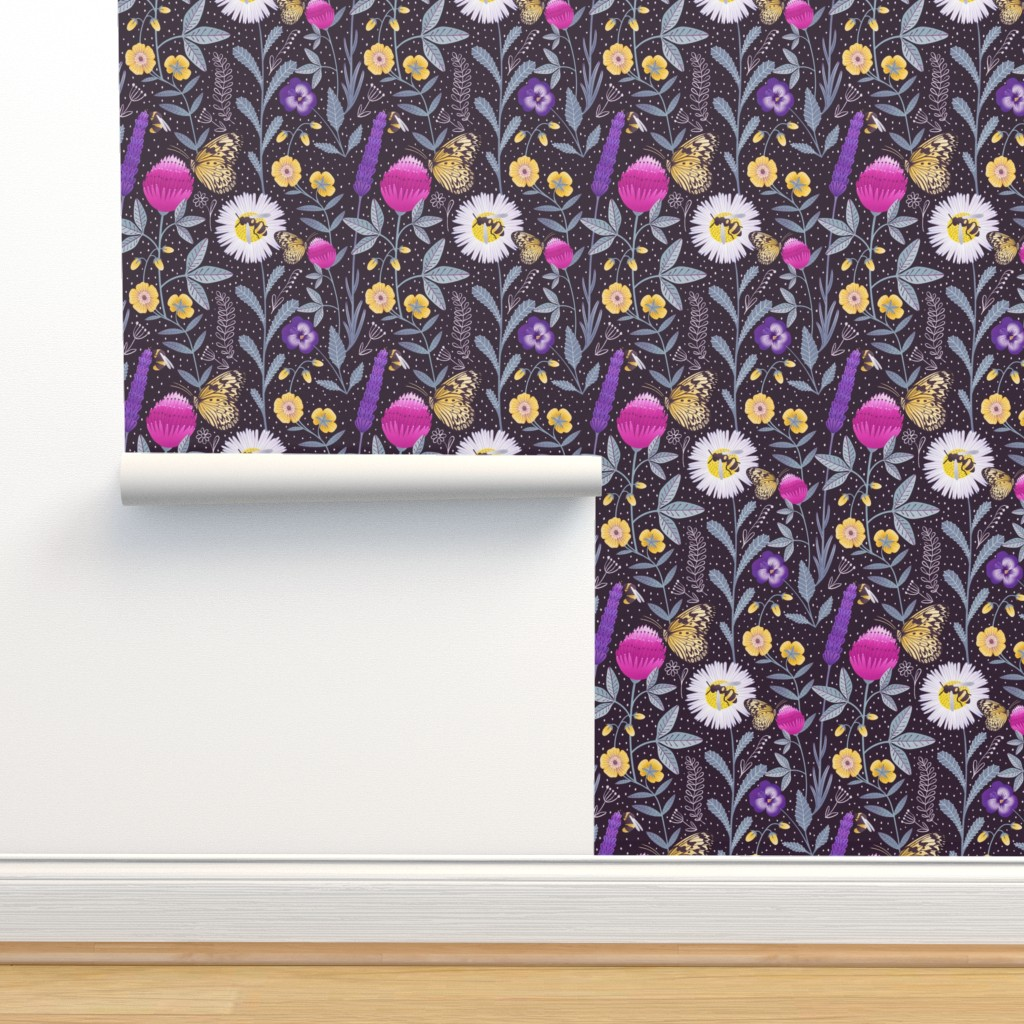 Isobar Durable Wallpaper featuring Pollinators by julia_gosteva