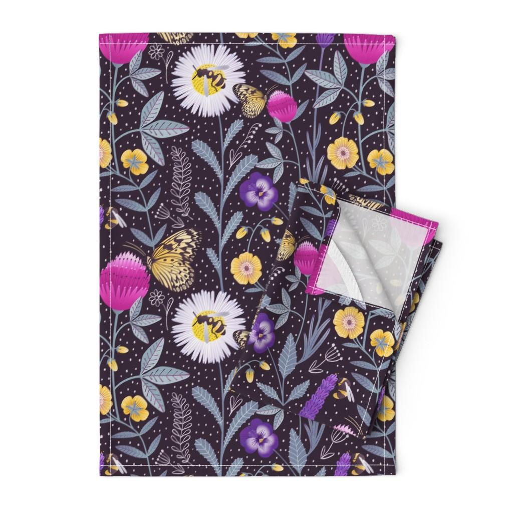 Orpington Tea Towels featuring Pollinators by julia_gosteva