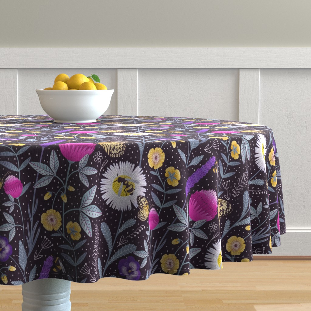 Malay Round Tablecloth featuring Pollinators by julia_gosteva