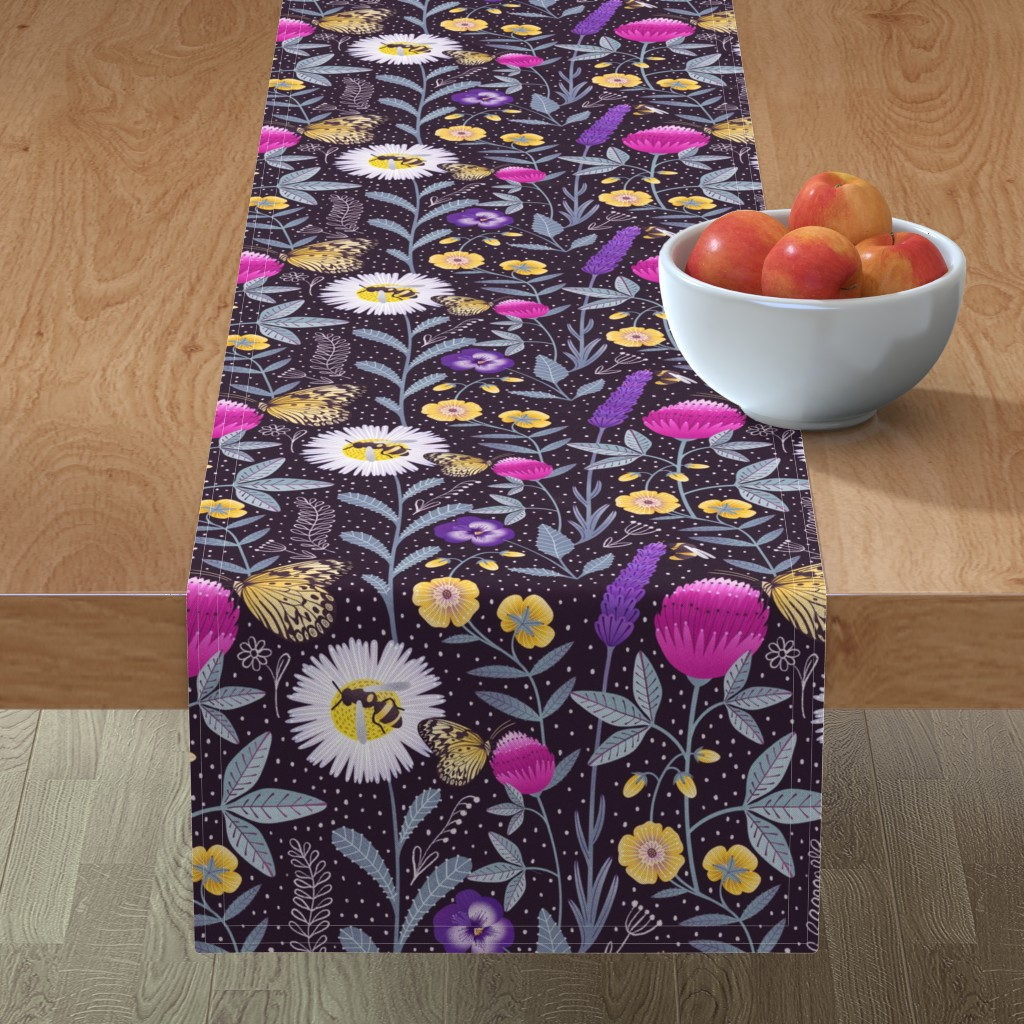 Minorca Table Runner featuring Pollinators by julia_gosteva