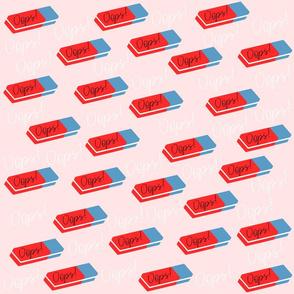 Oops - cute eraser pattern