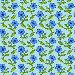 Calico Blues Wallpaper