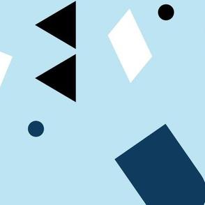 Geometric elements minimal trend design  spring summer abstract for swim blue JUMBO