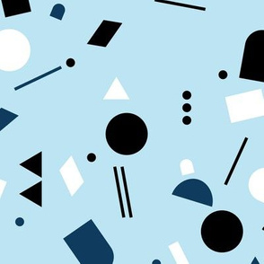 Geometric elements minimal trend design  spring summer abstract for swim blue