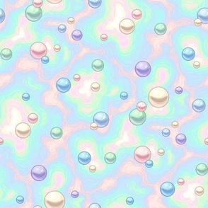 rainbow pearls on nacre