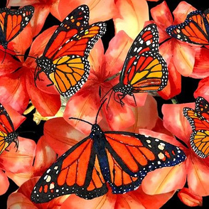 Butterflies n Tiger Lillies