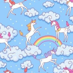 unicorns clouds
