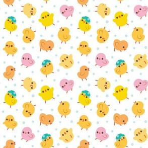 Baby Chicks Polka Dots