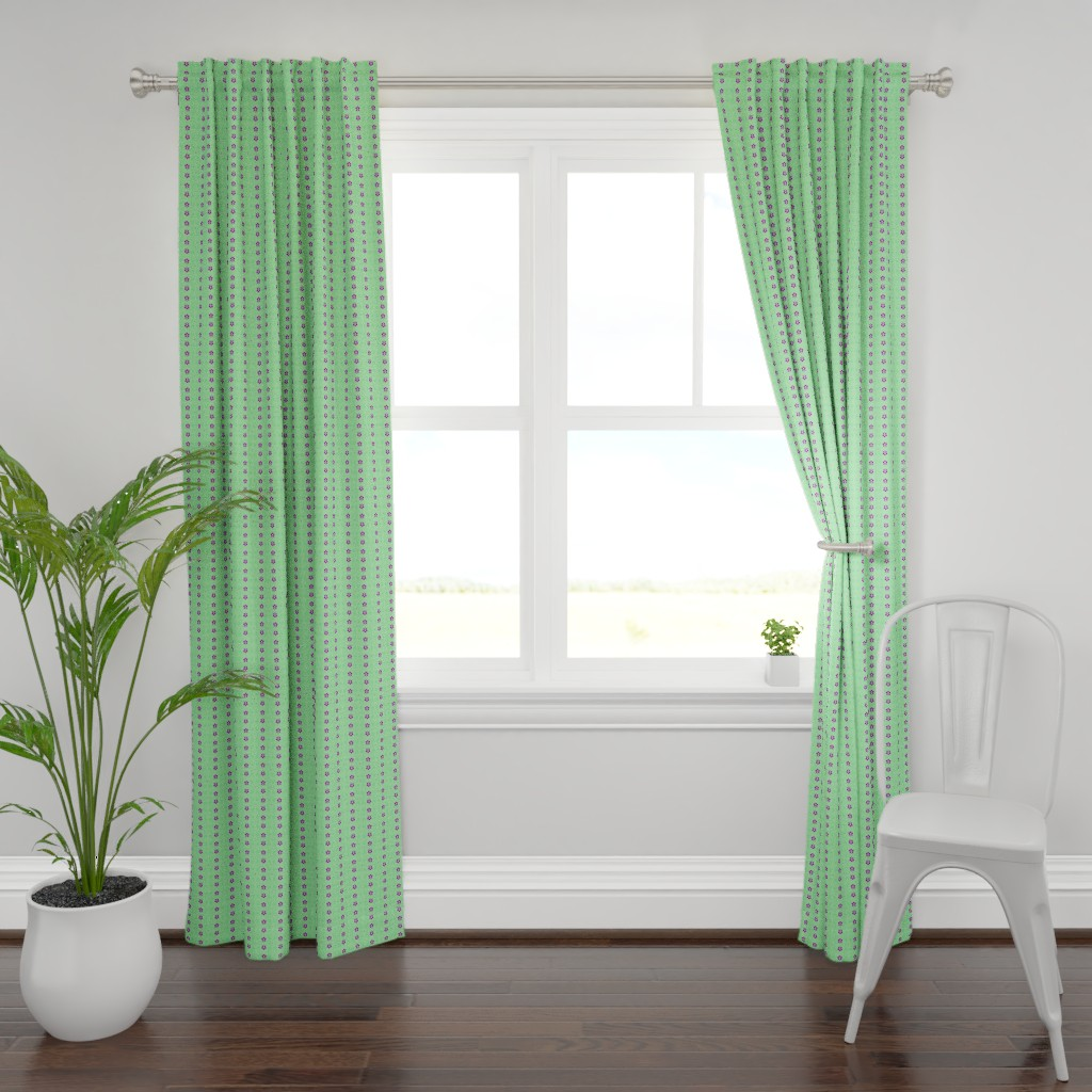 Plymouth Curtain Panel featuring NeonSion 19 by colortherapeutics