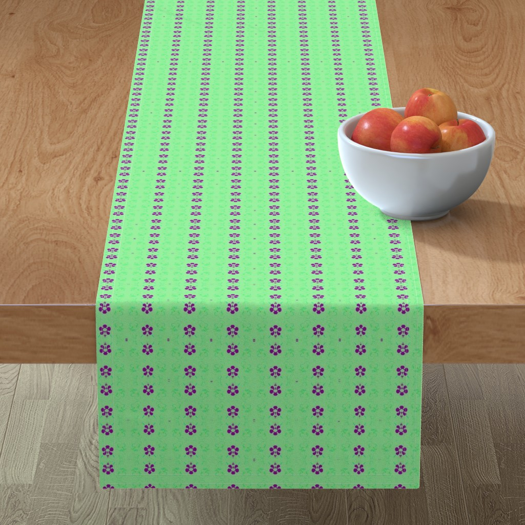 Minorca Table Runner featuring NeonSion 19 by colortherapeutics