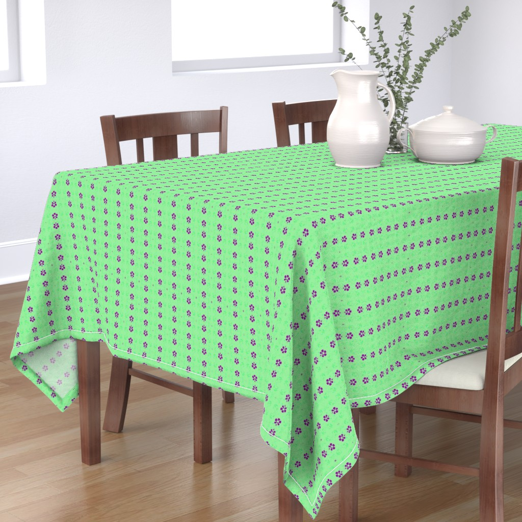 Bantam Rectangular Tablecloth featuring NeonSion 19 by colortherapeutics