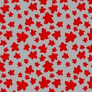 Red meeple toss