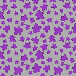 Purple meeple toss