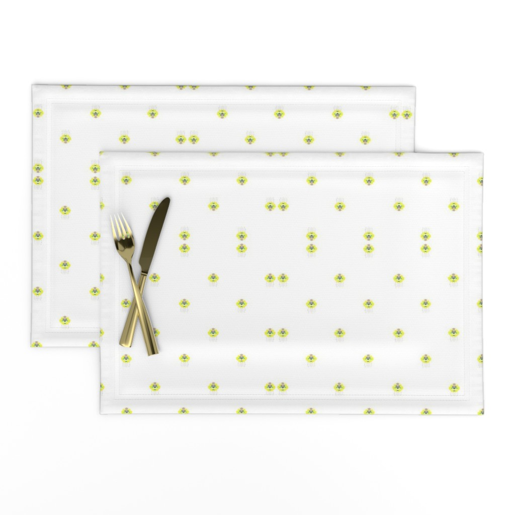 Lamona Cloth Placemats featuring BlueHeart by colortherapeutics