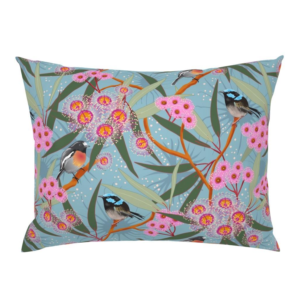 Campine Pillow Sham featuring Eucalyptus Blue by vinpauld