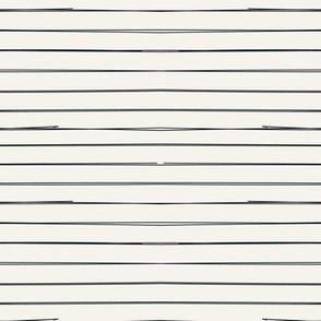 Black Stripes on Bone freehand lines on beige background