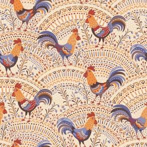 roosters beige