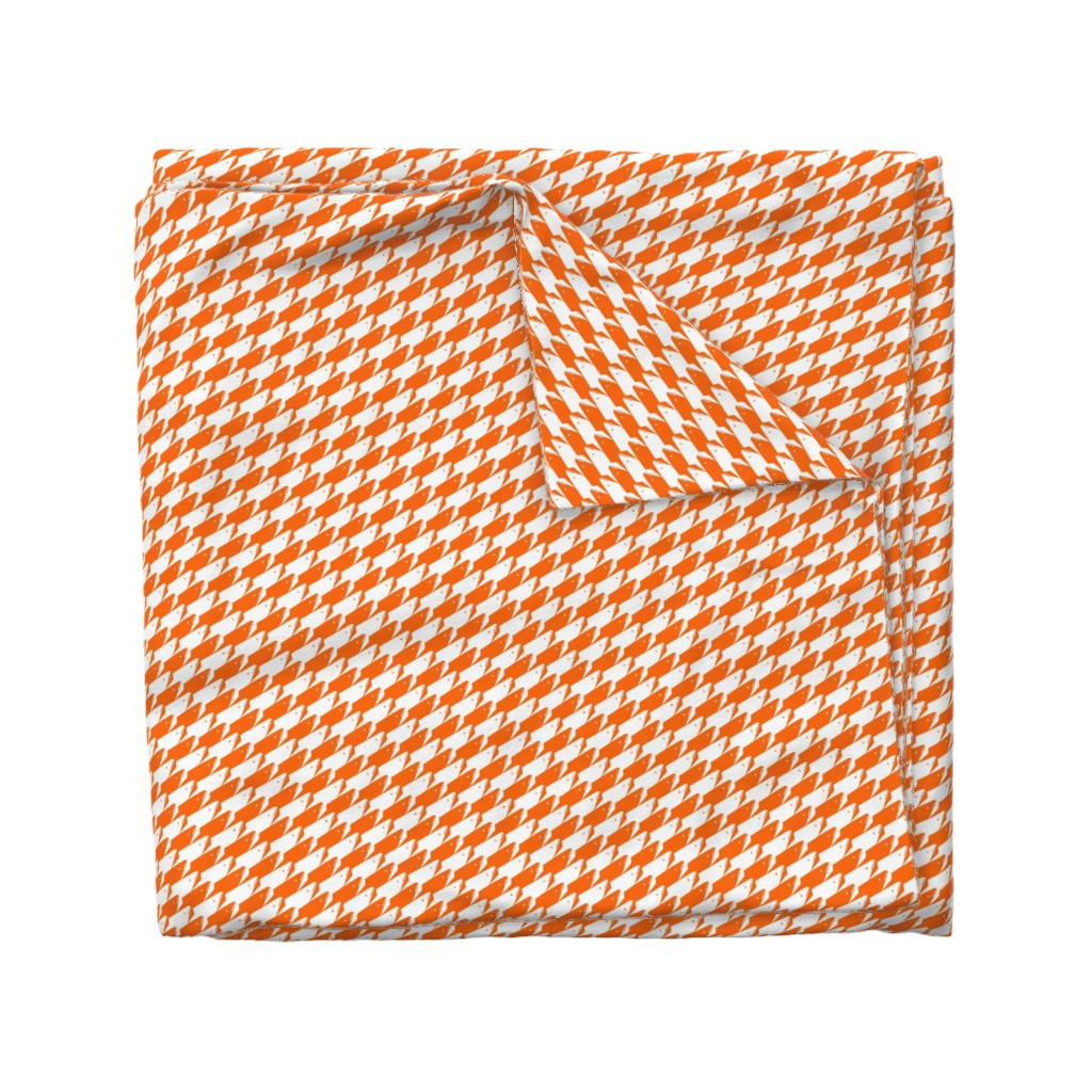 Wyandotte Duvet Cover featuring Baby Sharkstooth Sharks Pattern Repeat in White and Orange by paper_and_frill
