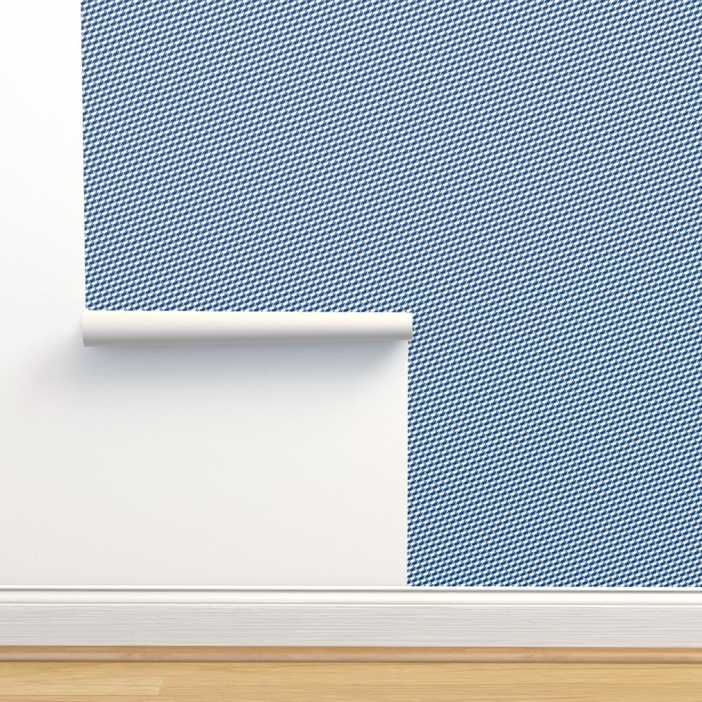 Isobar Durable Wallpaper featuring Baby Sharkstooth Sharks Pattern Repeat in White and Blue by paper_and_frill