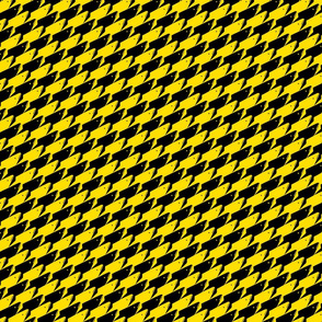 Baby Sharkstooth Sharks Pattern Repeat in Black and Yellow