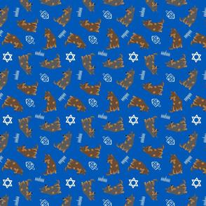 Tiny Lancashire Heelers - Hanukkah