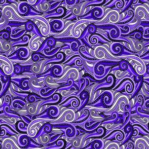 striped swirls--blue hue