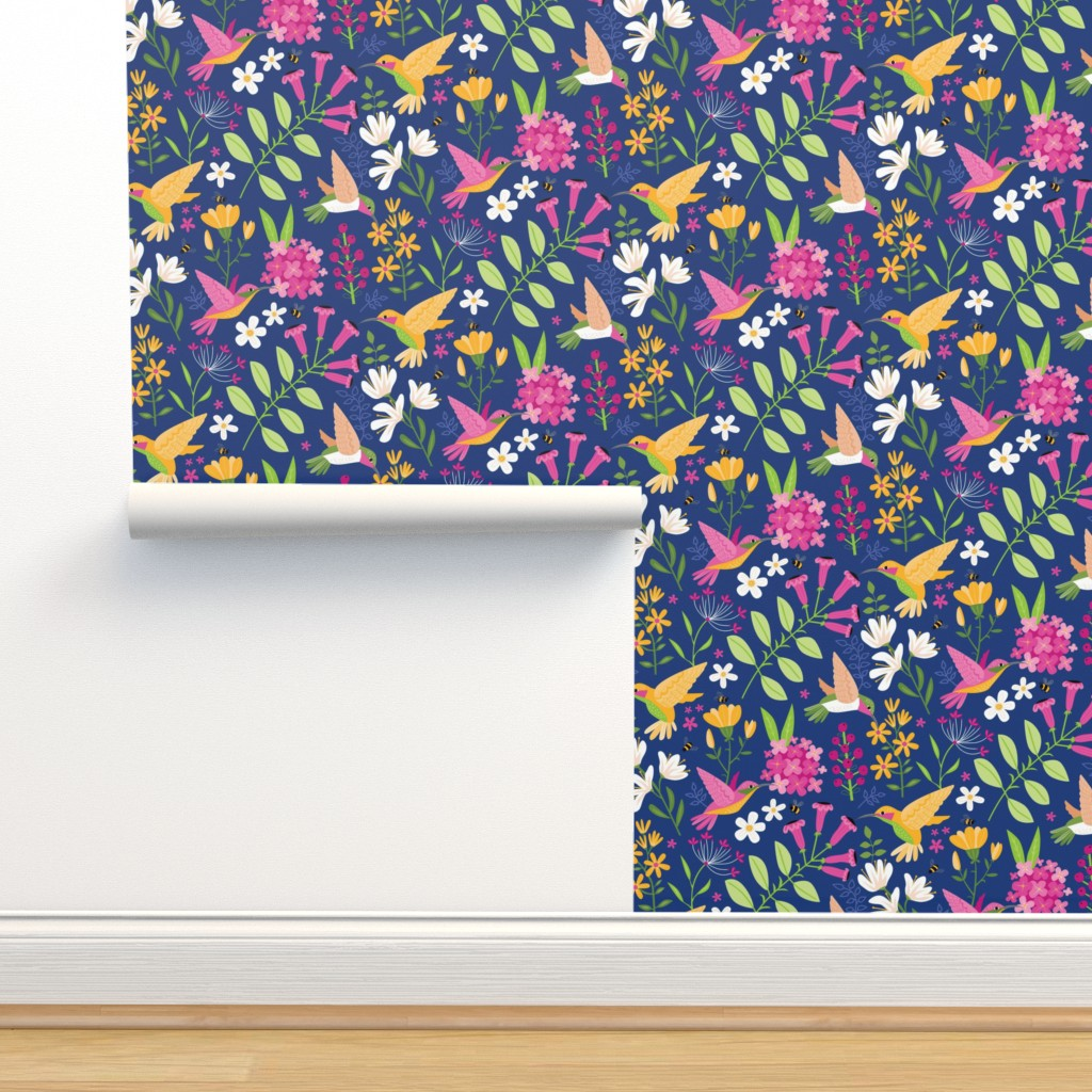Isobar Durable Wallpaper featuring Hummingbirds by lisa_kubenez