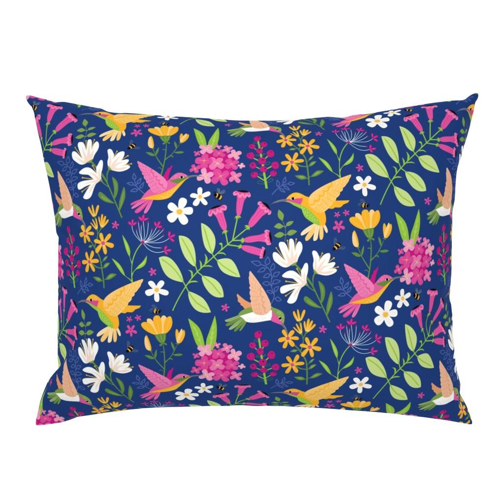 Campine Pillow Sham featuring Hummingbirds by lisa_kubenez