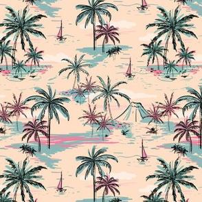 Tropical Palms In The Hawaiian Islands