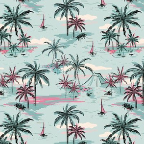 Blue Hawaii Tropical Islands Authentic