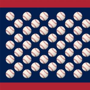 Baseball Flag: Blue Field