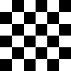 Black and White Checkerboard 3 inch-Check