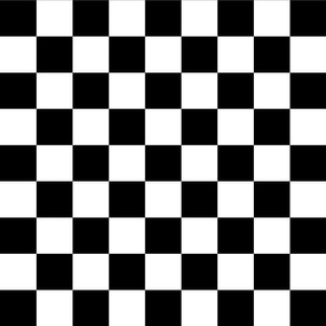 Black and White Checkerboard 2 inch-Check