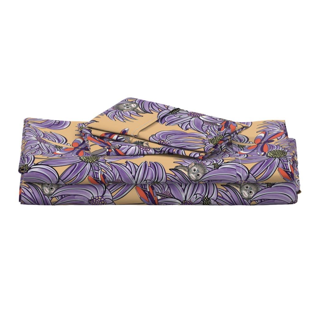 Langshan Full Bed Set featuring Dragonfllies are Beautiful 2 purple and yellow by debra_may_himes,_asid